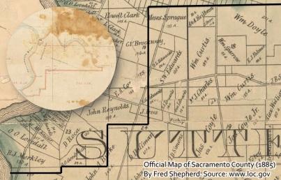 Lot 1 southern boundary w 1885